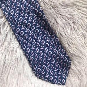 Brooks Brothers Horse Bit Purple & Blue Silk Tie